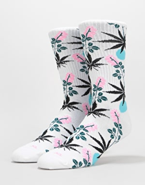 HUF Cherry Blossom Plantlife Crew Socks - White