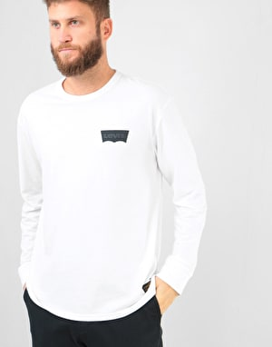 Levi's Skateboarding Graphic L/S T-Shirt - White Core/Batwing Black