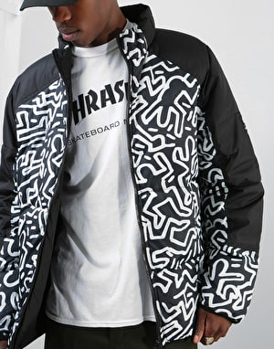 Element x Keith Haring KH Reverse Puffa Jacket - Flint Black