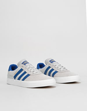Adidas Busenitz Vulc Skate Shoes - Solid Grey/Collegiate Royal/White