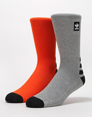 Adidas BB Socks - Collegiate Orange/Core Heather