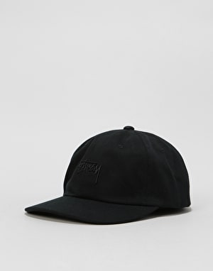Stüssy Stock Big Twill Low Pro Cap - Black
