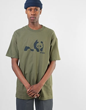 Enjoi Panda Splice T-Shirt - Military Green