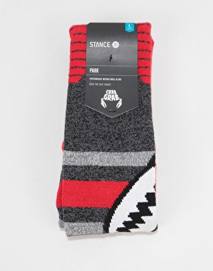 Stance x Crab Grab Park Snowboard Socks - Red