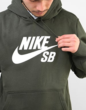 Nike SB Essential Icon Pullover Hoodie - Sequoia/White
