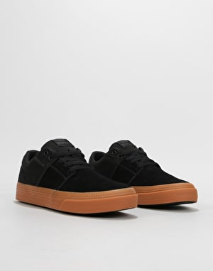 Supra Stacks II Vulc Skate Shoes  - Black/Gum