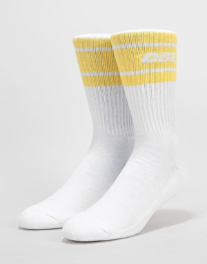 Obey Cooper II Socks - White/Yellow