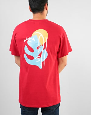 Route One Abstract T-Shirt - Cherry Red
