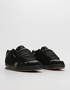 Globe Sabre Skate Shoes - Black/Charcoal/Woodsmoke Brown