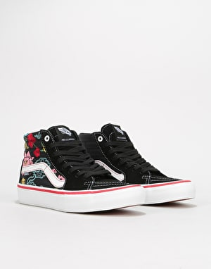 Vans Sk8-Hi Pro Skate Shoes - (Lizzie Armanto Floral) Black/Multi