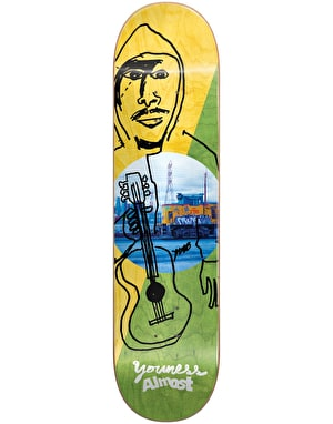 Almost Youness Diagonal Skateboard Deck - 8.125