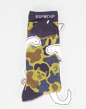RIPNDIP Nermcamo Socks  - Tropic Camo