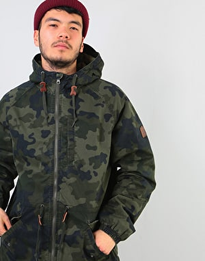 Element Stark Raglan Jacket - Bark Camo