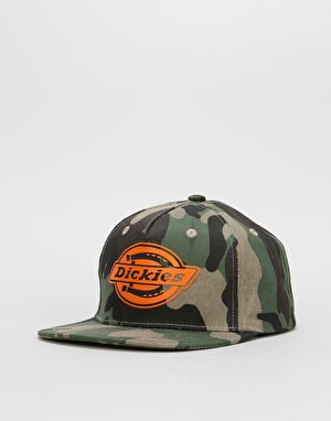 Dickies Oakland Snapback Cap - Camouflage/Orange
