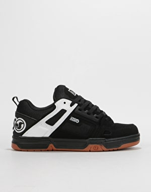 DVS Comanche Skate Shoes - Black/White Leather