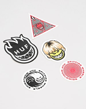 HUF x Spitfire Sticker Pack - Assorted