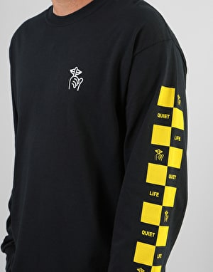 The Quiet Life Checker L/S T-Shirt - Black