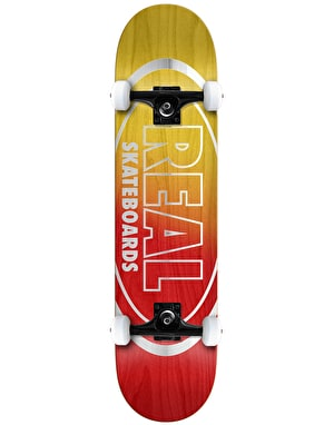 Real Metallic Oval Fades Complete Skateboard - 7.75