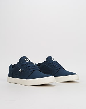 DC Tonik TX Skate Shoes - Navy/White