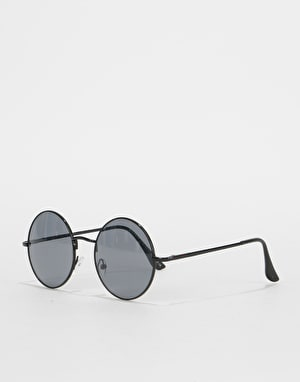 Route One Round Sunglasses - Black