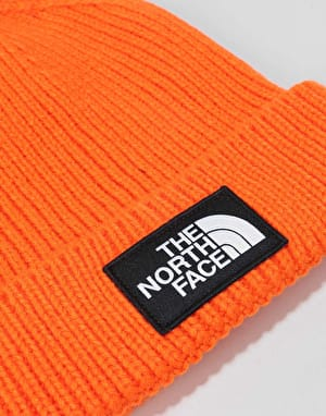 The North Face Logo Box Cuffed Beanie -Persian Orange