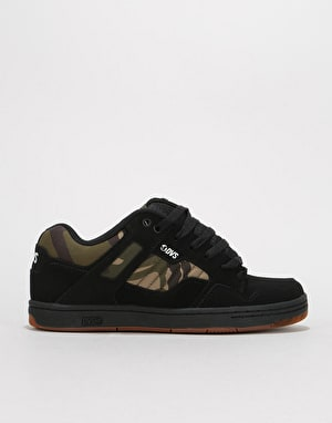 DVS Enduro 125 Skate Shoes - Black/Camo Nubuck Anderson