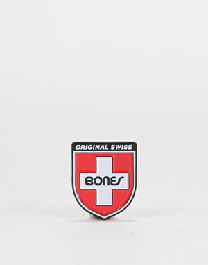Bones Swiss Shield Pin - Red