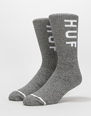 HUF Melange OG Logo Crew Socks - Black