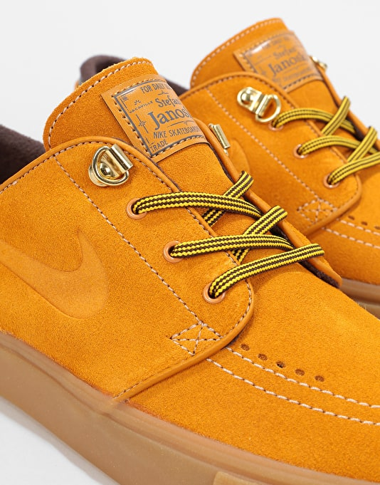 Nike SB Zoom Janoski Premium Skate Shoes - Bronze/Bronze-Gum Light Bro
