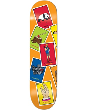 Enjoi Wallin La Loteria Skateboard Deck - 8.375