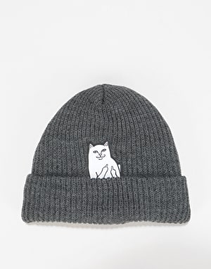 RIPNDIP Lord Nermal Ribbed Beanie  - Charcoal