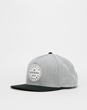 Herschel Supply Co. TM Snapback Cap - Heather Grey/Black