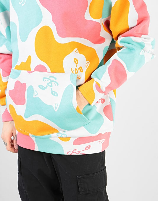 RIPNDIP Oversize Camo All Over Pullover Hoodie - Multi