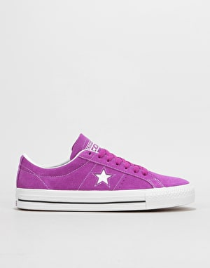 Converse One Star Pro Ox Skate Shoes - Icon Violet/White/White