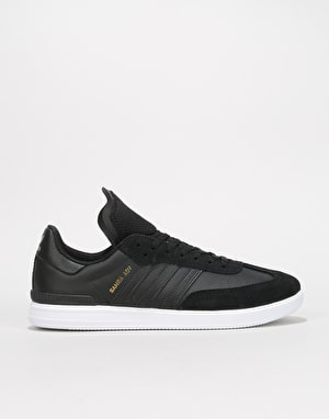 Adidas Samba ADV Skate Shoes - Black/White/Gold Metallic