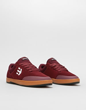 Etnies x Michelin Marana Skate Shoes - Burgundy/Tan/White