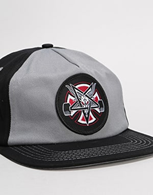 Independent x Thrasher Pentagram Cross Snapback Cap - Grey/Black
