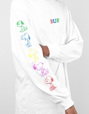 HUF x Peanuts Snoopy Years L/S T-Shirt - White