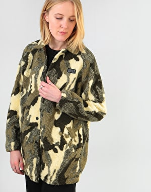 Obey Womens Covert Sherpa Jacket - Camo