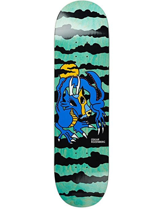 Polar Oskar Dragon Sunset Skateboard Deck - 8.25""