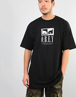 Obey Obey Int. Conspiracy T-Shirt - Black