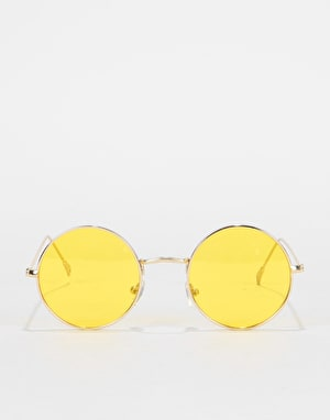 Glassy Sunhater Mayfair Sunglasses - Gold/Yellow Lens