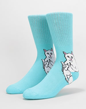 RIPNDIP Lord Nermal Socks - Baby Blue