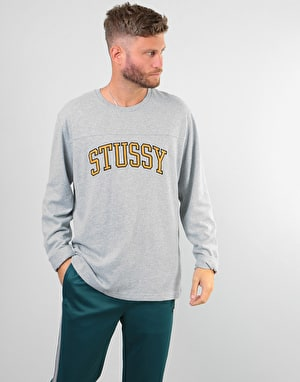 Stüssy Kent Football L/S Jersey - Grey Heather