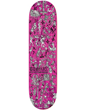 Heroin Deer Man of Dark Woods Woodcut Skateboard Deck - 8.625