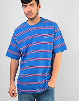 Stüssy Double Stripe Crew - Blue