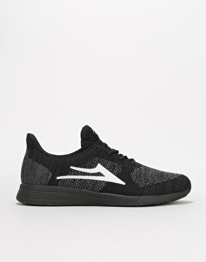 Lakai Evo Skate Shoes - Black/Reflective Knit