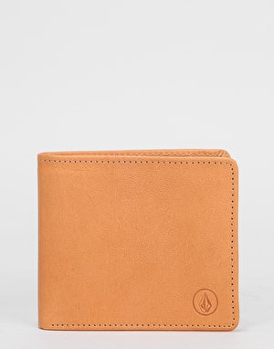 Volcom Strangler Leather Wallet - Natural