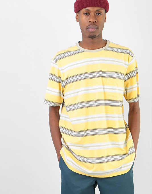 Patagonia Squeaky Clean Pocket T-Shirt - Tarkine Stripe: Surfboard Yellow