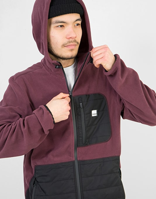 ThirtyTwo Filter Polar Fleece Zip Hoodie - Burgundy